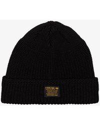 Neighborhood - Black Wool Beanie Hat - Lyst