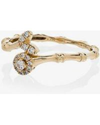 Rosa De La Cruz - Yellow Gold Bamboo Diamond Ring - Lyst
