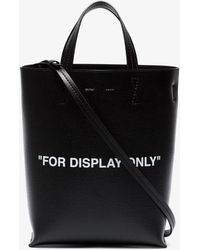 Off-White c/o Virgil Abloh - Black 'for Display Only' Leather Tote Bag - Lyst