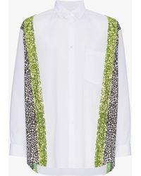 Comme des Garçons - Contrast Stripe Shirt - Lyst