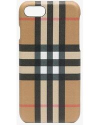 Burberry - Check Printed Iphone 8 Case - Lyst