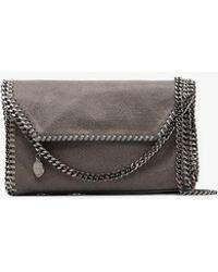 Stella McCartney - Grey Falabella Faux Leather Mini Shoulder Bag - Lyst