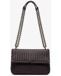 46070a1e25 Bottega Veneta - Smoked Purple Olympia Woven Leather Shoulder Bag - Lyst