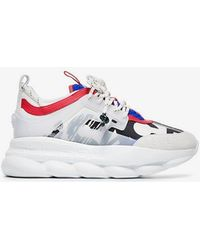 Versace - Multicolor Sneakers With Maxi White Sole - Lyst