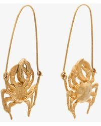 Givenchy - Gold Tone Crab Earrings - Lyst