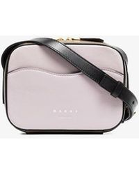 Marni - Brown And Pink Crossbody Box Bag - Lyst