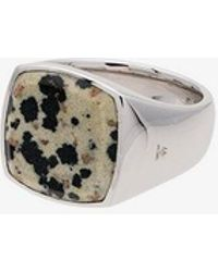 Tom Wood - Cushion Leopard Jasper Sterling Silver Signet Ring - Lyst