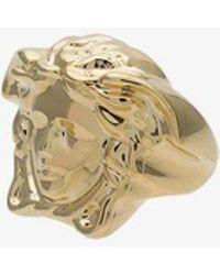 Versace - Metallic Medusa Signet Ring - Lyst