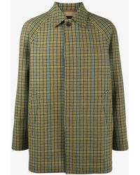 Prada - Checked Mac Coat - Lyst