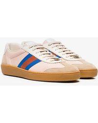 8e29eba386c Gucci GG Vintage Web Platform Sneakers in Metallic for Men - Lyst