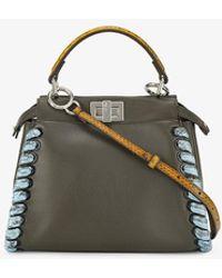 green peekaboo weaved handbag Fendi Gsrfkh