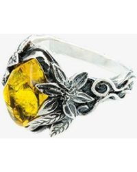 Lyly Erlandsson - Yellow Aria Silver Ring - Lyst