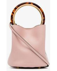 a4b6a9da9c496a Marni - Pink Pannier Leather Bucket Bag - Lyst
