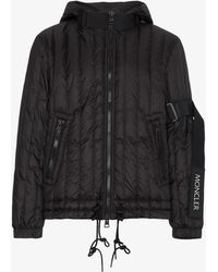 Moncler - Quilted Logo Feather Down Jacket - Lyst