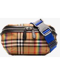 Burberry - Multicoloured Sonny Vintage Check Canvas Belt Bag - Lyst