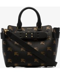 6fddf52a0cef Burberry - The Small Equestrian Knight Leather Belt Bag - Lyst