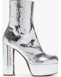 Vetements - Metallic Platform 130 Leather Boots - Lyst