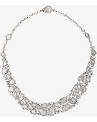 Saqqara - 18kt White Gold And Diamond Necklace - Lyst