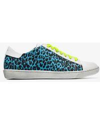 Amiri - White Viper Leopard-panel Leather Sneakers - Lyst