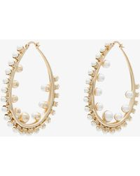 Anton Heunis - Gold Plated Pearl Hoop Earrings - Lyst