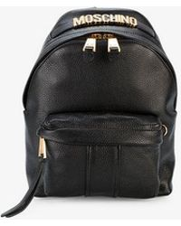 Moschino - Logo Plaque Mini Backpack - Lyst