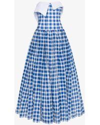 Natasha Zinko - Gingham Strapless Maxi Dress - Lyst