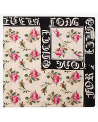 Gucci - Multicoloured Rose Print Silk Scarf - Lyst