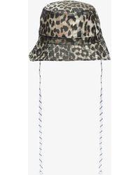 Ganni - Leopard Print Bucket Hat - Lyst