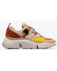 Chloé - Colour-block Sonnie Sneakers - Lyst