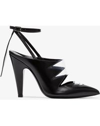 CALVIN KLEIN 205W39NYC - Kai 105 Cutout Leather Court Shoes - Lyst