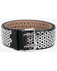 Alaïa - Eyelet Embellished Leather Belt - Lyst