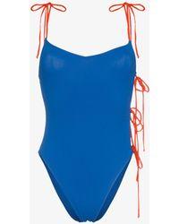 ACK - Tintarella Side Tie Swimsuit - Lyst