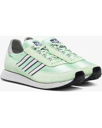 adidas - Green Glenbrook Spezial Suede Sneakers - Lyst