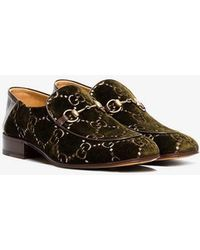 5055f14d772 Gucci 1953 Horsebit Loafer In Flora Leather in White for Men - Lyst