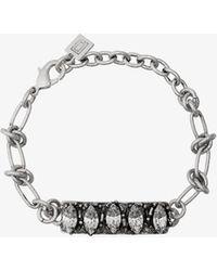 DANNIJO - Silver Linsala Swarovski Crystal Bracelet - Lyst