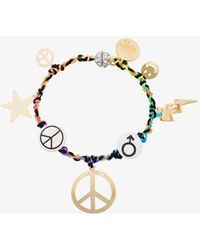 Venessa Arizaga - Peace Charm Bracelet - Lyst