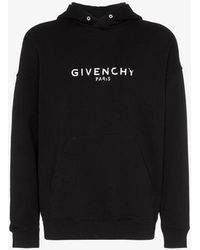 Givenchy - Faded Logo Hoodie - Lyst