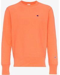 Champion - Orange Reverse Weave Sweatshirt - Lyst