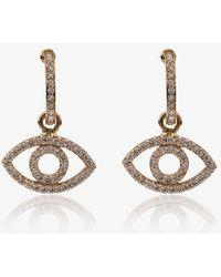 Ileana Makri - 18k Yellow Gold Empty Eye Diamond Earrings - Lyst