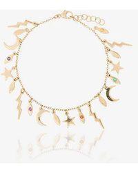 Andrea Fohrman - 18k Yellow Gold Multi Charm Sapphire Bracelet - Lyst