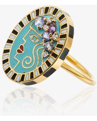 Holly Dyment | 18k Yellow Gold Portrait Diamond Ring | Lyst
