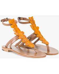 Shop For Sale Online Outlet Classic Yellow Crocodile Ariana Sandals PEPN1KJlI