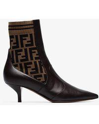 Fendi - Brown Forever Rockoko Boots - Lyst