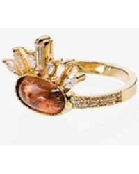 Jacquie Aiche - 14kt Gold And Tourmaline Ring - Lyst