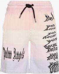 Palm Angels - Low Rise Logo Print Board Shorts - Lyst