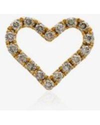 Rosa De La Cruz - 18k Yellow Gold Diamond Heart Stud Earring - Lyst