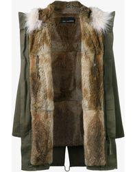 Yves Salomon - Rabbit Fur Lining Coyote Fur Trimmed Parka - Lyst
