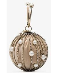 Rosantica - Silver Sasha Pearl And Crystal Embellished Clutch Bag - Lyst