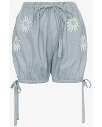 Innika Choo Embroidered Daisy Bloomer Shorts