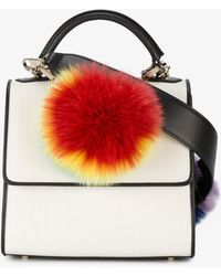 Les Petits Joueurs - Mini Alex Shoulder Bag With Rainbow Fur - Lyst